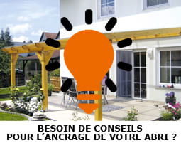 fixation support abri de terrasse