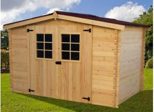 Abri jardin bois abris en bois brut ou autoclave pour for Porte double cabanon