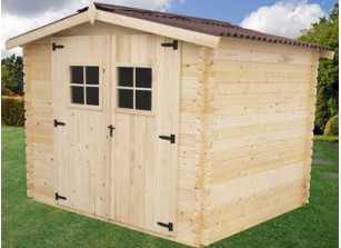 abri de jardin 5m2 bois 28mm. Black Bedroom Furniture Sets. Home Design Ideas