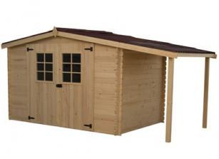 Abri jardin bois abris en bois brut ou autoclave pour for Fenetre pour cabanon