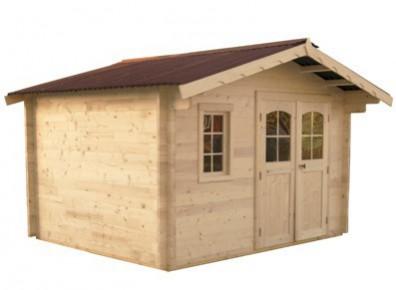 abri de jardin bois m m 42 mm 3 65 x 4 31 m. Black Bedroom Furniture Sets. Home Design Ideas