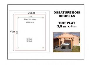 OSSATURE BOIS DOUGLAS 3.5 X 4 M