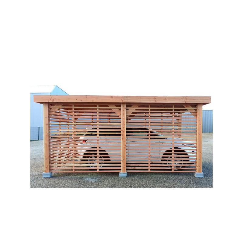 Garage Ossature Bois Toit Plat Prix ~ Garage Double Bois Toit Plat