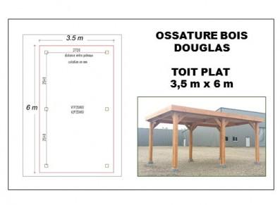 OSSATURE BOIS DOUGLAS AU TOIT PLAT