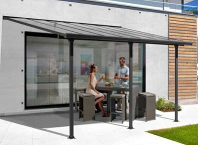 abri en aluminium toit terrasse adosser contre un mur. Black Bedroom Furniture Sets. Home Design Ideas