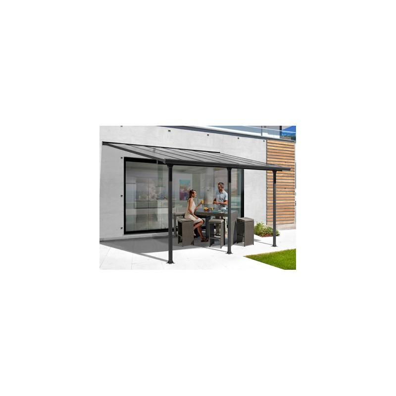 Abri en aluminium toit terrasse adosser contre un mur - Abri terrasse alu ...