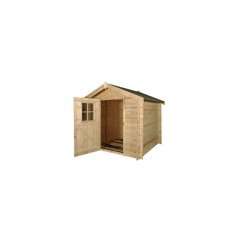 Chalet de jardin en bois petit abri de mois de 5m2 for Chalet jardin 5m2