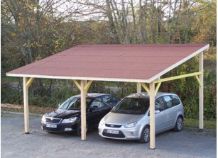 abri voiture bois carport pas cher 1 ou 2 voitures france abris. Black Bedroom Furniture Sets. Home Design Ideas