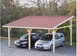 Abri voiture bois carport pas cher 1 ou 2 voitures france abris - Carport bois 2 pentes ...