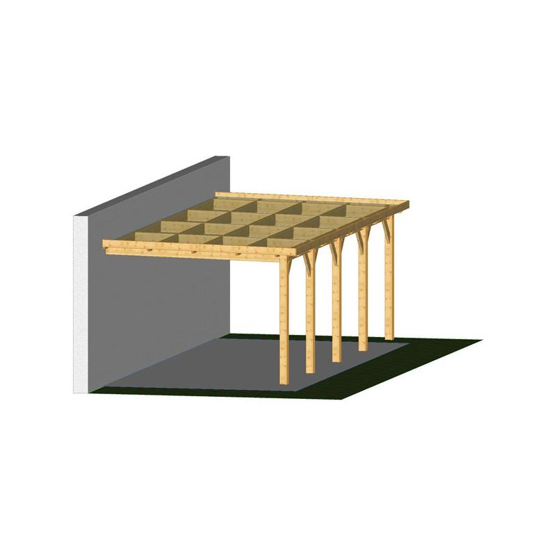 ossature bois charpente toit plat adoss e prix usine. Black Bedroom Furniture Sets. Home Design Ideas
