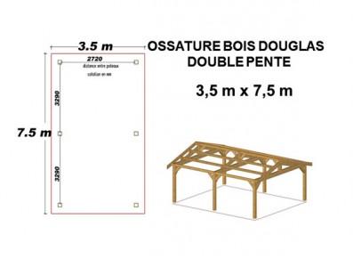 OSSATURE MOISÉE DOUBLE PENTE EN BOIS DOUGLAS