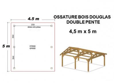OSSATURE DOUBLE PENTE EN BOIS DOUGLAS MOISÉE ORIGINE FRANCE