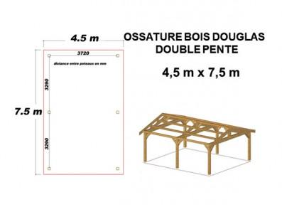 OSSATURE BOIS DOUGLAS DOUBLE PENTE ORIGINE FRANCE
