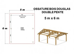 OSSATURE DOUBLE PENTE BOIS DOUGLAS MOISÉ