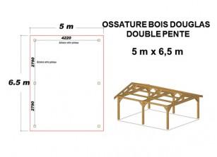 OSSATURE BOIS DOUGLAS DOUBLE PENTE