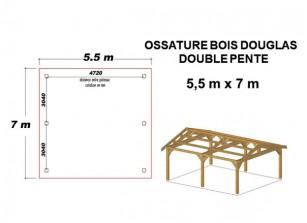 OSSATURE DOUGLAS DOUBLE PENTE