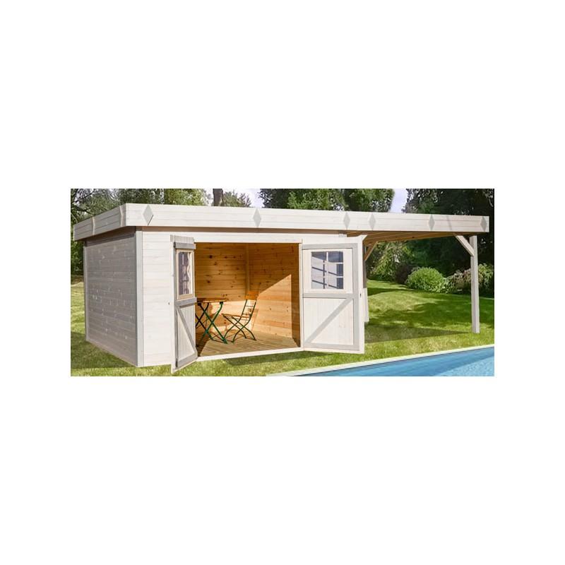 abri de jardin en bois brut 28mm avec terrasse. Black Bedroom Furniture Sets. Home Design Ideas