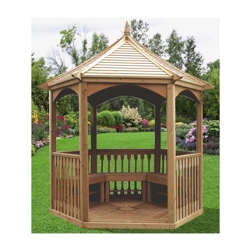 gloriette hexagonale de m avec plancher. Black Bedroom Furniture Sets. Home Design Ideas