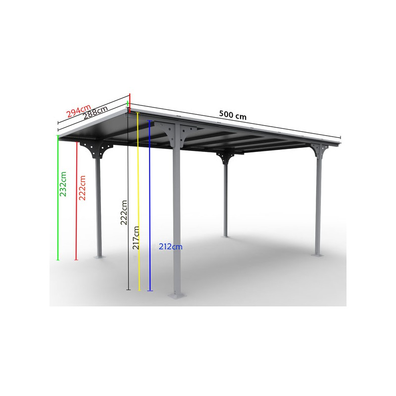 carport toit plat alu design un tarif tr s promo. Black Bedroom Furniture Sets. Home Design Ideas