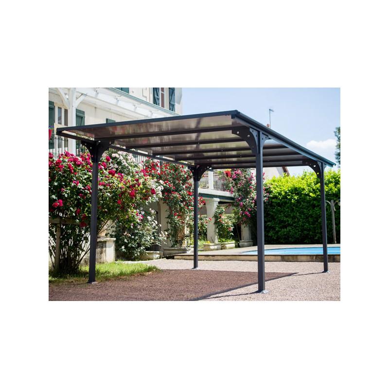 carport toit plat alu design livr mont. Black Bedroom Furniture Sets. Home Design Ideas