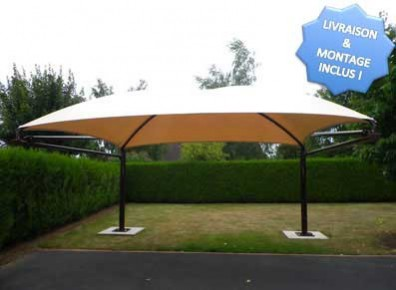 abri voiture carport double design prix livr et mont garantie 10 ans. Black Bedroom Furniture Sets. Home Design Ideas