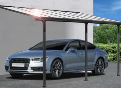 abri voiture en aluminium carport adosser. Black Bedroom Furniture Sets. Home Design Ideas