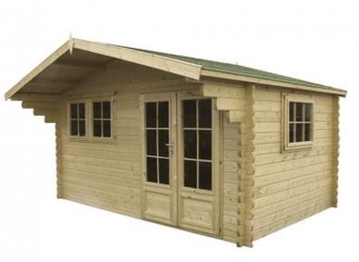 chalet de jardin bois madrier 44 mm. Black Bedroom Furniture Sets. Home Design Ideas