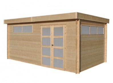 Chalet de jardin moderne en bois madrier 44 mm