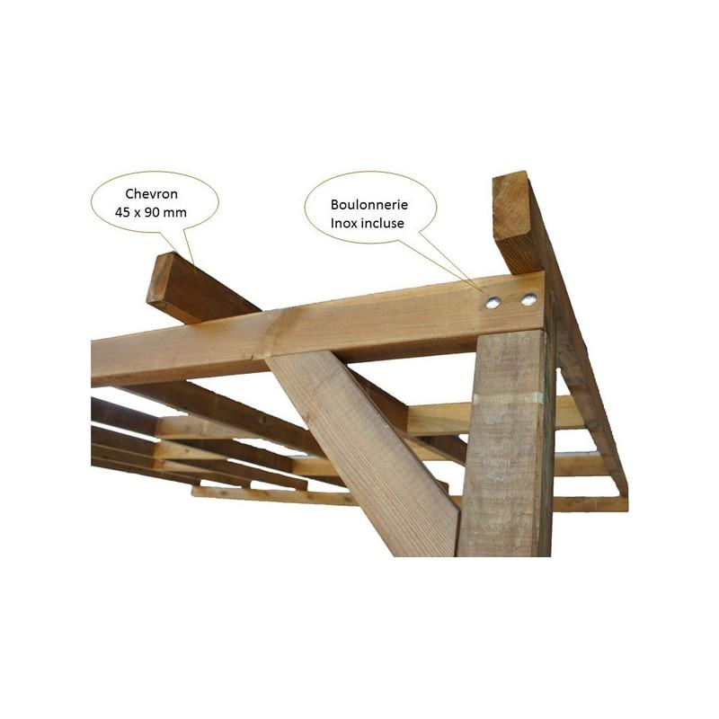 Toit terrasse bois trait polycarbonate pas cher - Terrasse bois discount ...