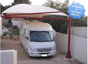 abri camping car carport pour v hicule de loisirs france abris. Black Bedroom Furniture Sets. Home Design Ideas