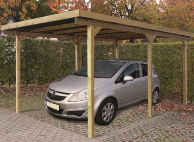 carport toit plat en bois trait autoclave. Black Bedroom Furniture Sets. Home Design Ideas