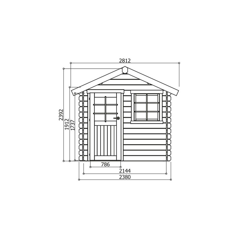 Chalet de jardin traditionnel en bois brut madriers 28 mm for Chalet de jardin design