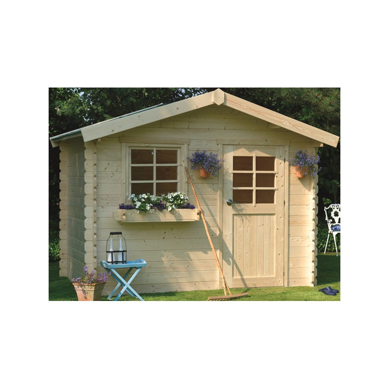 Abri de jardin en bois madriers 28 mm autoclave for Abri jardin autoclave