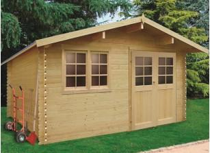 Abri de jardin madrier bois 28 mm 14 m²