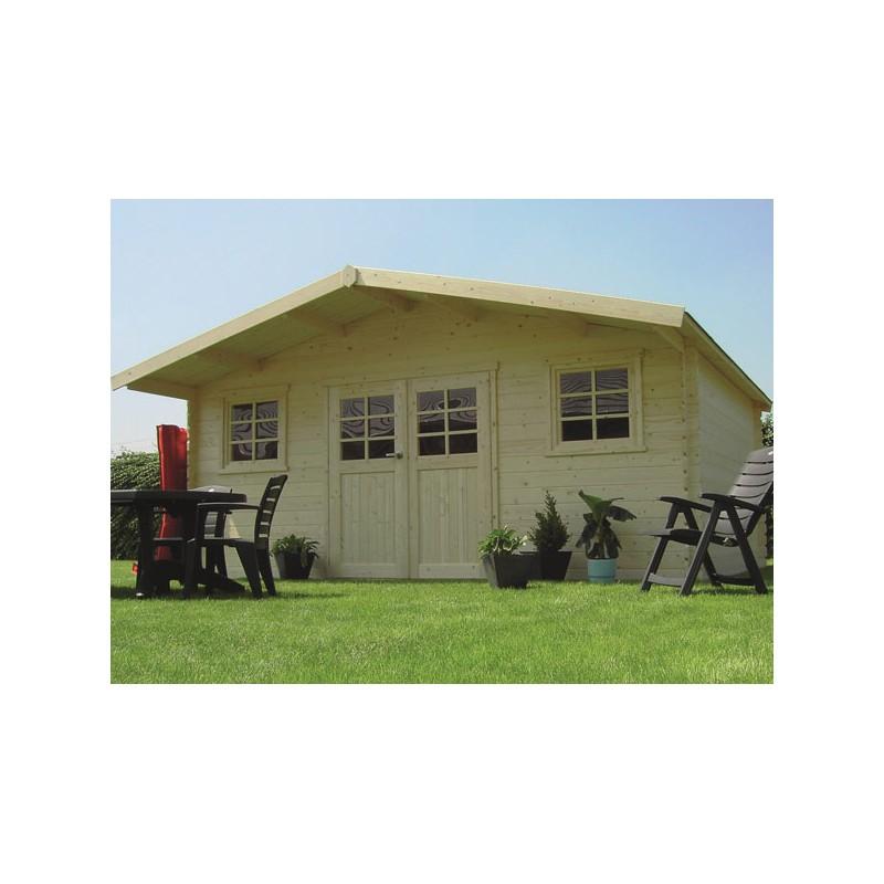 Abri de jardin traditionnel en bois 28 mm trait autoclave for Abri de jardin en bois traite autoclave
