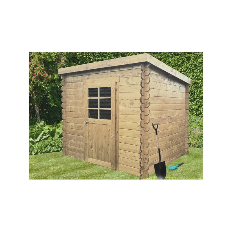 abri de jardin cubique en bois brut madriers 19 mm. Black Bedroom Furniture Sets. Home Design Ideas