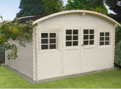 Abri de jardin bois 28 mm toit arcé