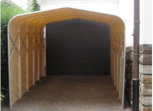 GARAGE PVC PLIANT A FIXER AU SOL   2,80 x 5,15 M