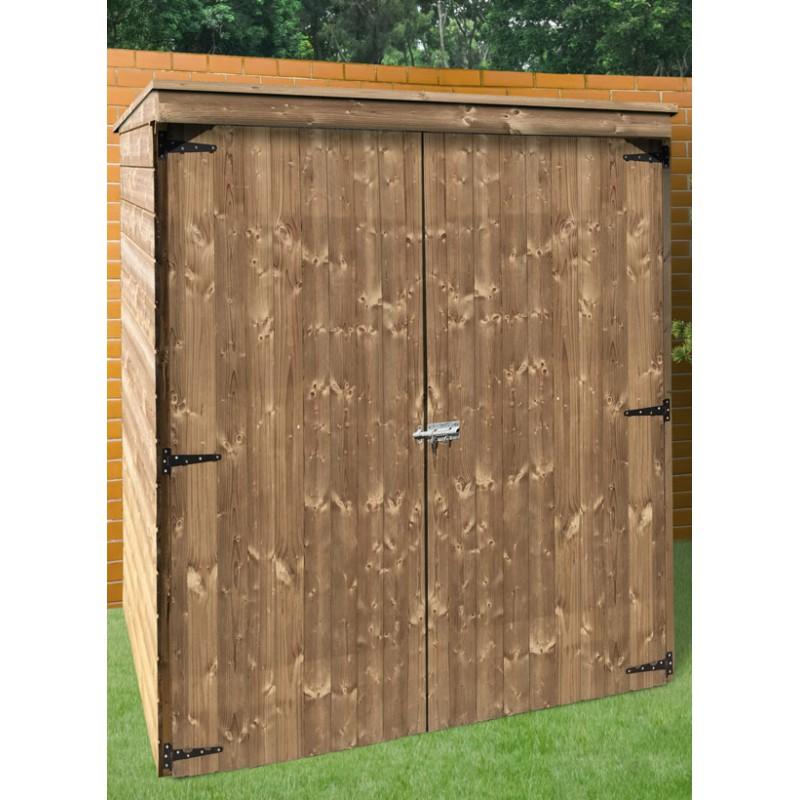 Armoire de jardin toit plat en bois trait - Abri de jardin toit plat traite autoclave ...