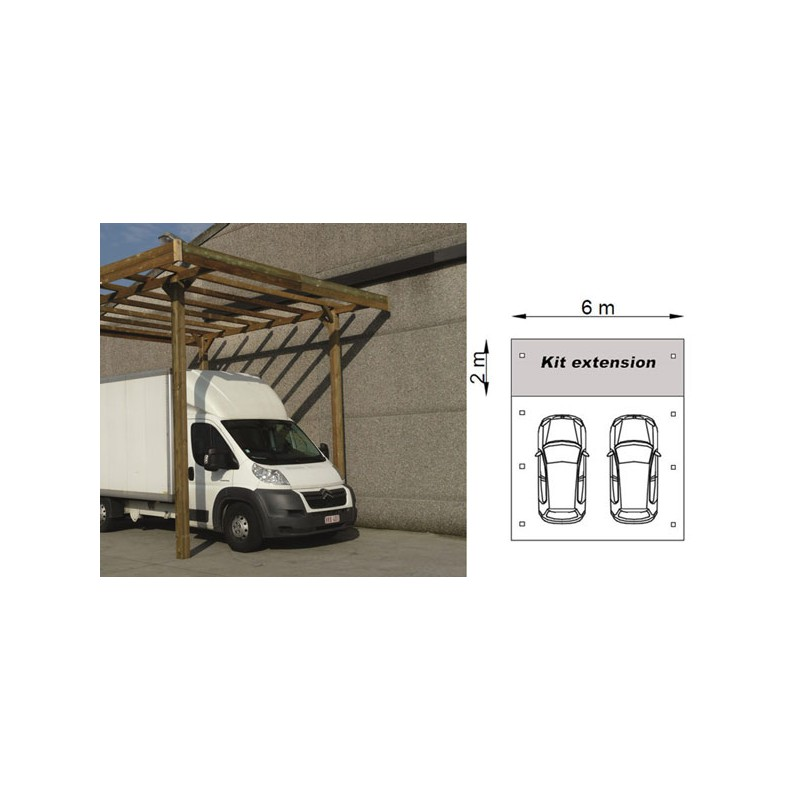 carport camping car en bois autoclave modulable. Black Bedroom Furniture Sets. Home Design Ideas