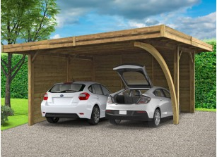 abri voiture bois carport pas cher 1 ou 2 voitures france abris. Black Bedroom Furniture Sets. Home Design Ideas