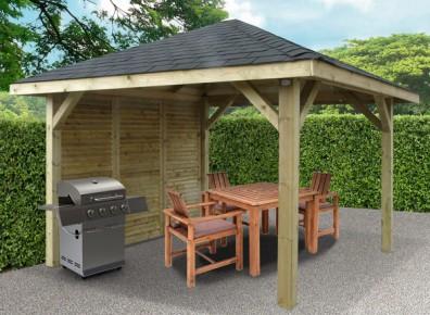 Kiosque de jardin toiture pyramidale m - Modele de kiosque en bois ...