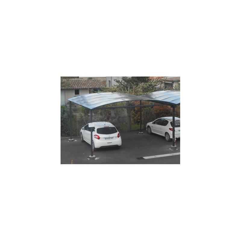 Abri 2 voitures metal gain pvc un carport robuste for Abri auto double costco