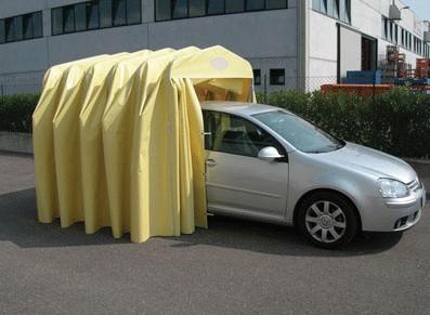 """GARAGE PVC PLIANT  """"L""""  :::::::::::::: 2,8x5,15 M"""