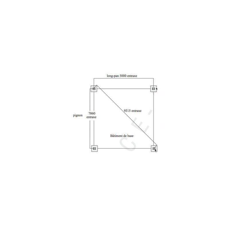 abri metallique doubles pentes grande hauteur modulable en acier galvanis. Black Bedroom Furniture Sets. Home Design Ideas