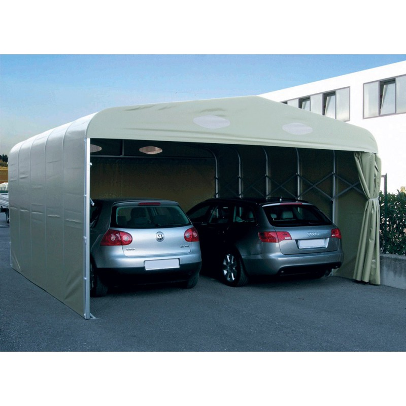 garage pvc pliant double un abri repliable pour 2 voitures port 0. Black Bedroom Furniture Sets. Home Design Ideas