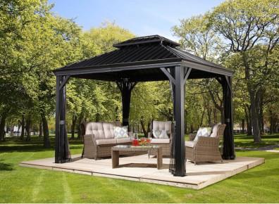 pavillon terrasse exterieur en alu. Black Bedroom Furniture Sets. Home Design Ideas