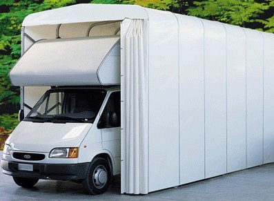 GARAGE CAMPING-CAR PVC PLIANT  3,5x7,3x3,4 M