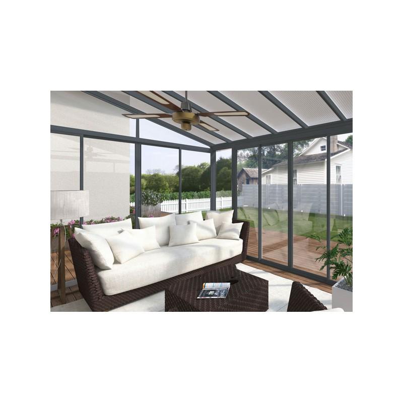 veranda en kit aluminium et polycarbonate. Black Bedroom Furniture Sets. Home Design Ideas