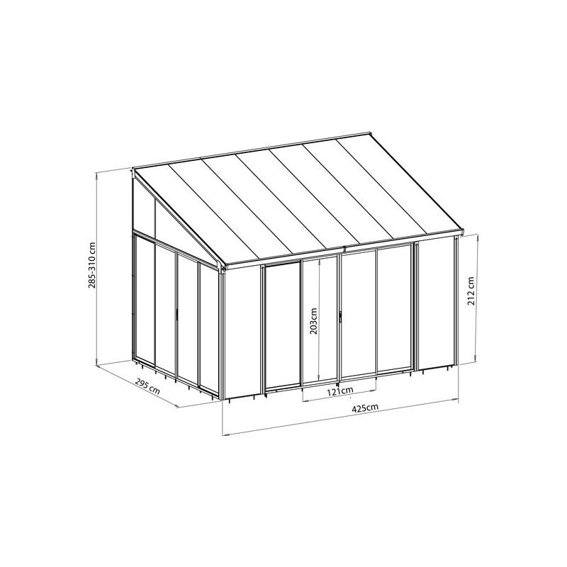 Veranda En Kit Aluminium Et Polycarbonate